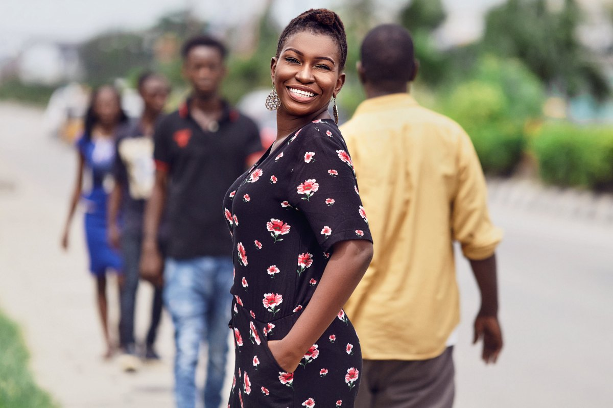 Nigeria blogger floral jumpsuit